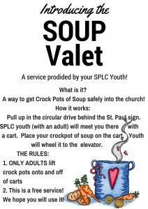 Soup Supper with Youth Soup Valet Service @ St. Paul Lutheran Church | Defiance | Ohio | United States