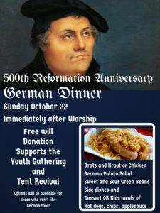500th Anniversary Reformation German Dinner @ St. Paul Lutheran Church | Defiance | Ohio | United States
