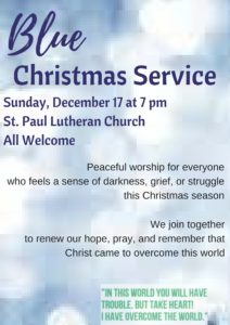 Blue Christmas Service @ St. Paul Lutheran Church | Defiance | Ohio | United States
