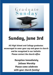 Graduate Sunday Worship and Reception @ St. Paul Lutheran Church | Defiance | Ohio | United States