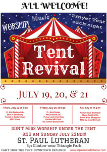 Tent Revival @ St. Paul Lutheran Church | Defiance | Ohio | United States