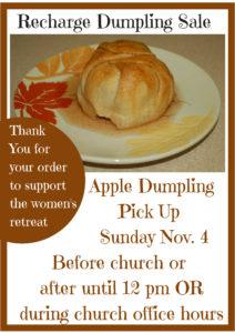 Apple Dumpling Pick-Up @ St. Paul Lutheran Church | Defiance | Ohio | United States