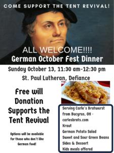 2019 Octoberfest Dinner
