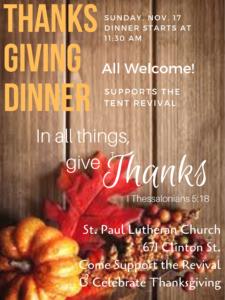 2019 thanksgivingdinner