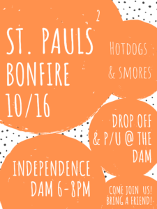 St. Pauls Youth Bonfire @ Independence Dam State Park
