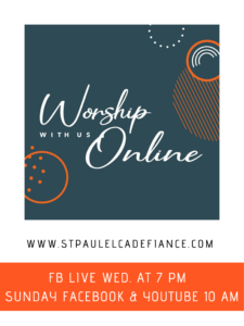 Online Worship @ St.Paul Lutheran YouTube Channel & FB Group