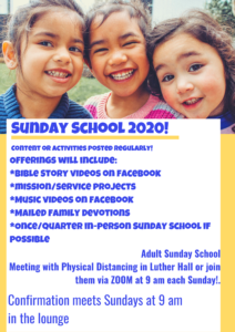 2020 Sunday School