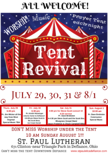 Tent Revival @ St. Paul Lutheran