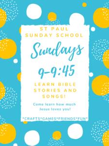 Sunday School @ St, Paul Lutheran Church